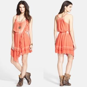 Free People Aphrodite Tie Dye Ruffle Dress